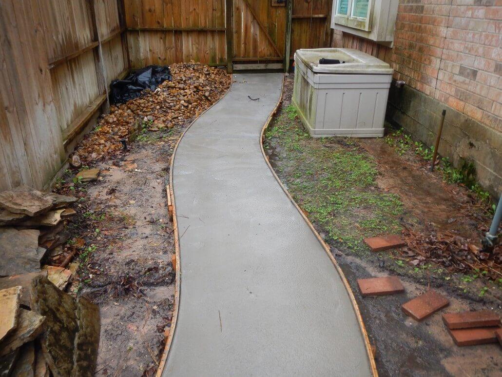 Resurfacing Walkway Before Picture in Houston