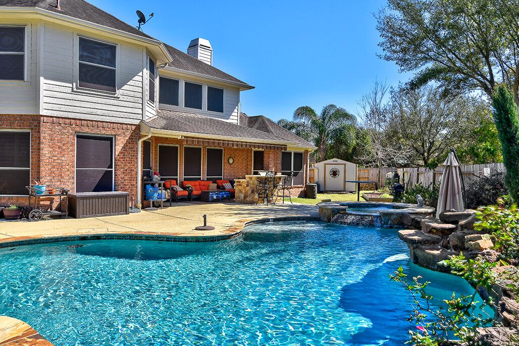 Carvestone Pool Deck in Houston Texas